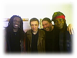 Me With Living Colour, 28-10-04, L-R: Will Calhoun, Me, Martin Byrne, Vernon Reid