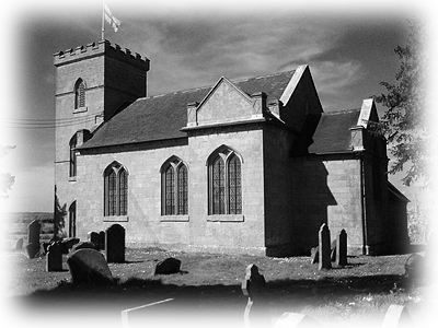 Rushock Church, the final resting place of the ashes of John Bonham
