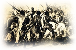Slave rebellion, New Orleans and not before time.