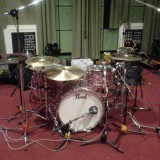 Jamie Little's old Pearl drum kit, AKA 'The Junker'