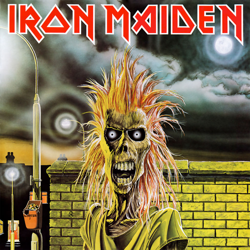Iron Maiden 1st album sleeve artwork