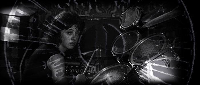 Nick Lauro behind drums, Threshold, 1982